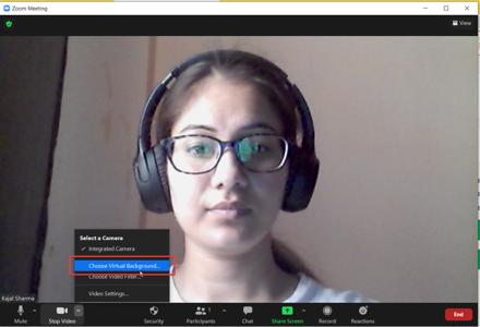 Choose Virtual Background