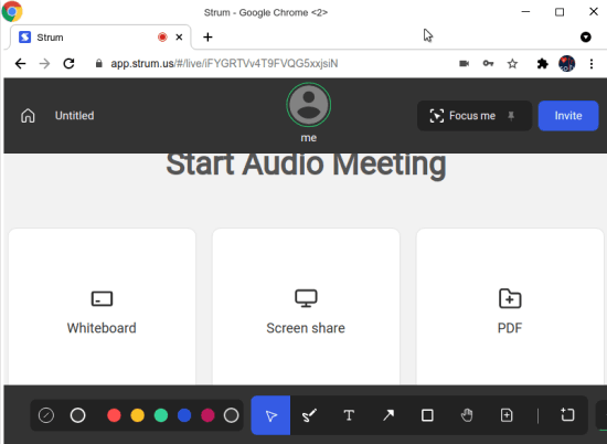 select audio meeting type