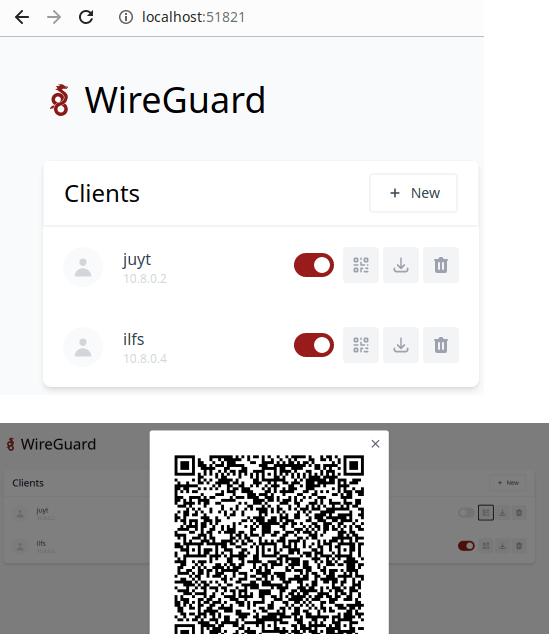 wg-easy add clients