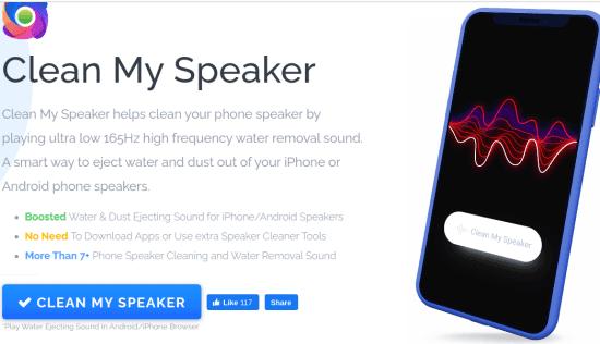 Clean My Speaker in action