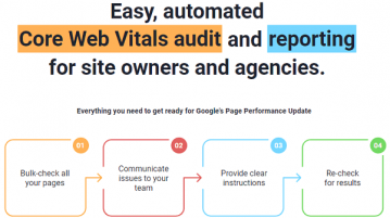 Core Web Vitals Auditor Software by Link Assistant