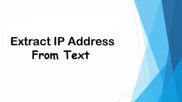 Extract IP Address from Text, JSON, CSV, HTML Files with this Website