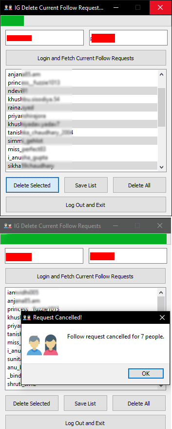 FollowRequestsRemover in action