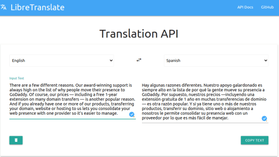 Free Self Hosted Language Translator with API LibreTranslate