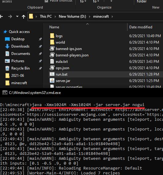 Run Minecraft Server