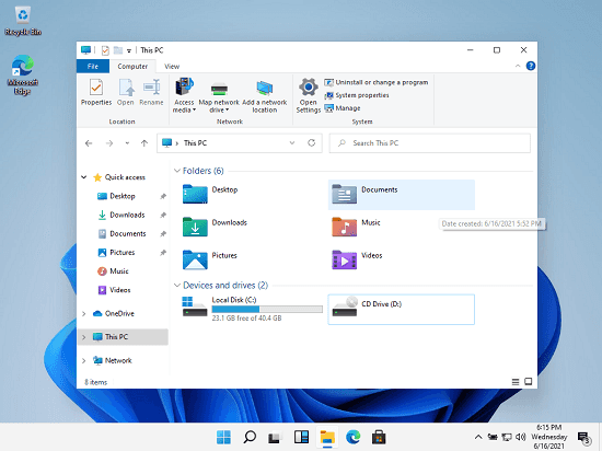 Windows 11 Explorer