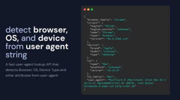 API to detect browser, OS, Device from User Agent APIC Agent