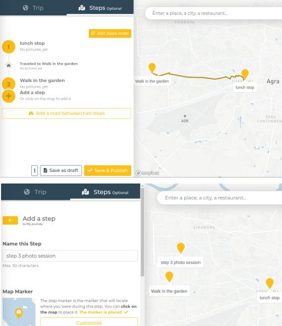 Add Steps Traveled maps