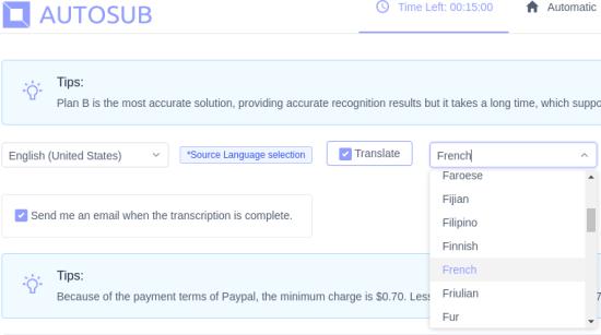 AutoSub Translation