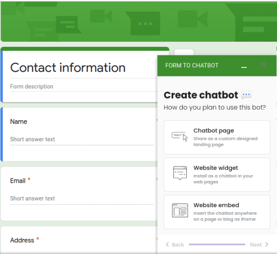 Create Chatbot