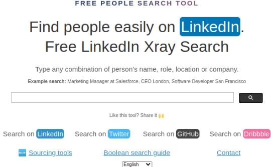 Find LinkedIn, Twitter, GitHub Profiles