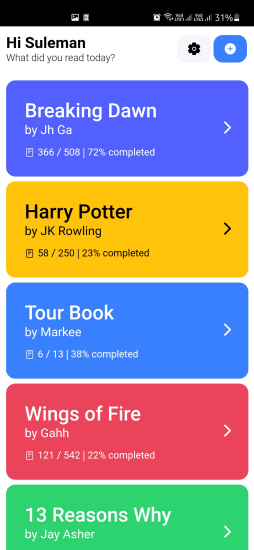 Free Digital Bookmarking app to Track Progress of your Book Reading Markee