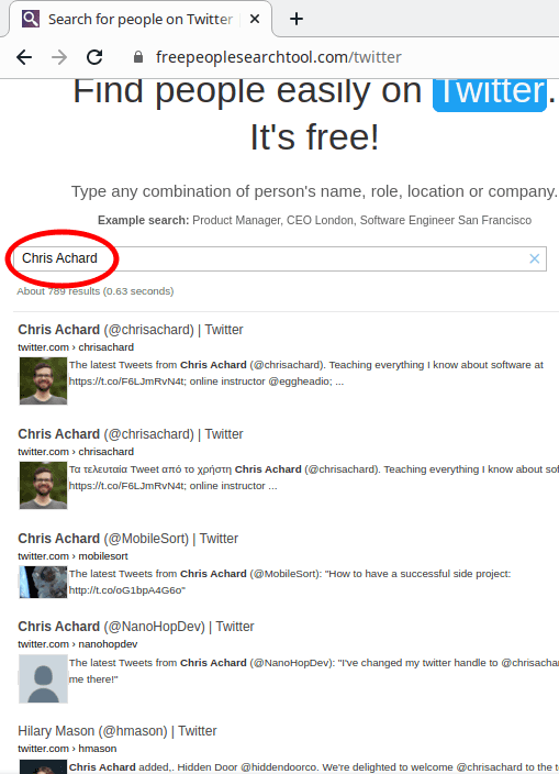 Free People search Tool Twitter