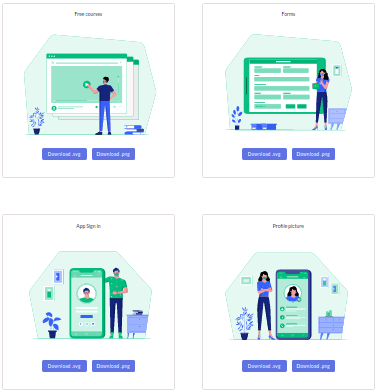 Free Website to Download Multicolor Illustrations without Attribution Scale