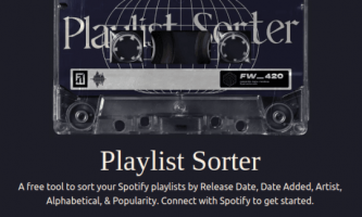 How to Sort Spotify Playlist by Release Date or Date Added