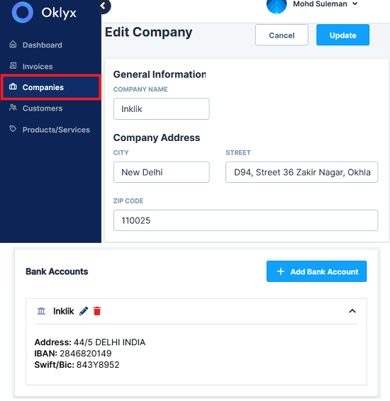 Oklyx Create a Company