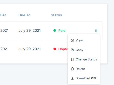 Oklyx invoice options