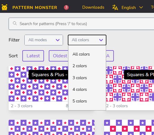 Pattern Monster main UI