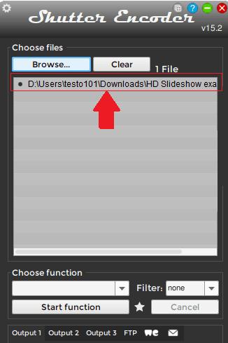 Shutter Encoder import video
