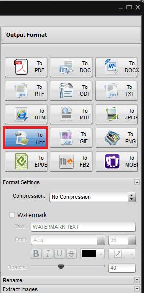 Soft4Boost Document Converter options