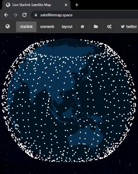 Starlink Map Live