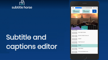 Subtitles, Captions Editor for Mobile Devices SubtitlePony