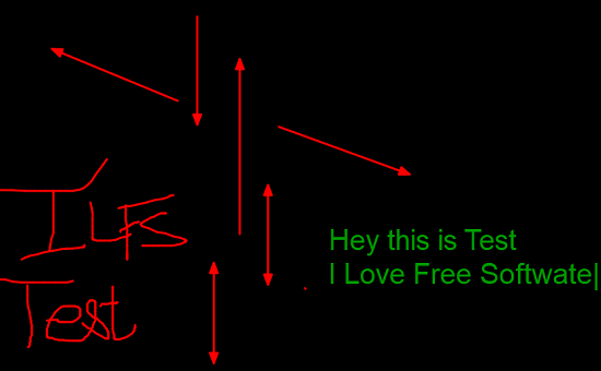 TekaPoint start drawing text
