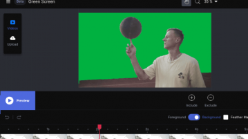 Turn any Background in Videos to Green Screen