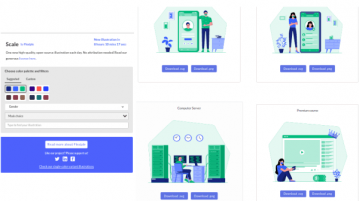 Website to Download Multicolor Illustrations without Attribution Scale