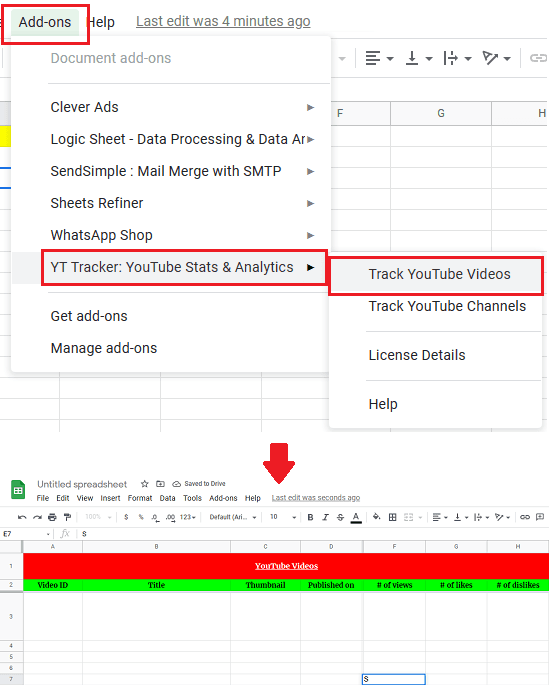 YT Tracker Addon Menu