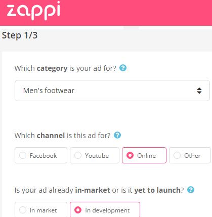 Zappi step 1