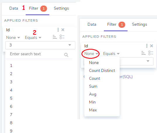Bipp.io SQL Query Builder Tool Aggregate Fucntions and Filters