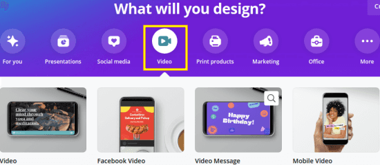 Canva Images to Video Start