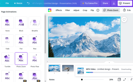 Canva Images to Video in Action
