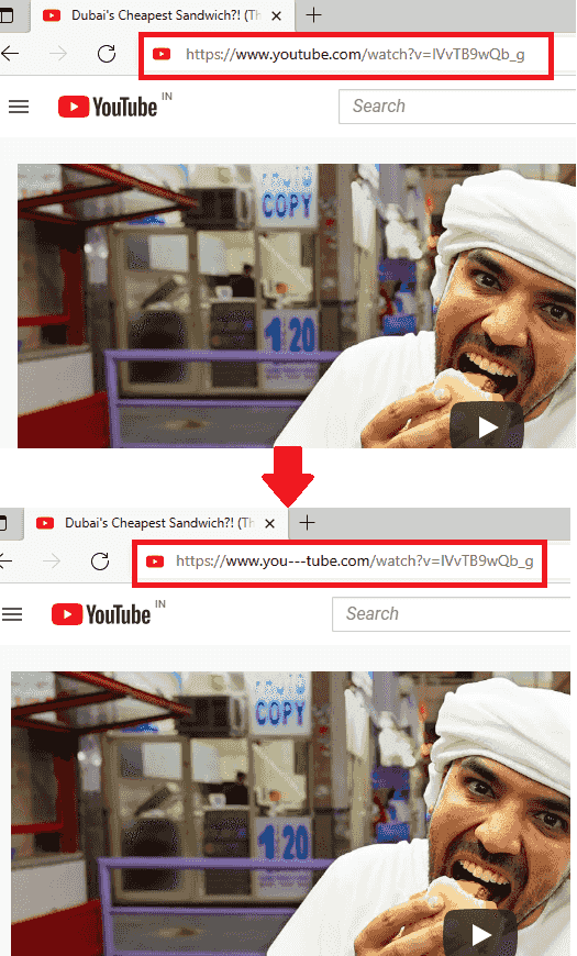 Change URL on YoUTube to Watch Together