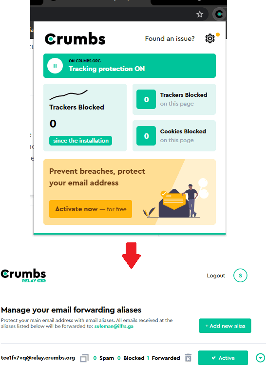Crumbs Email Forwarding