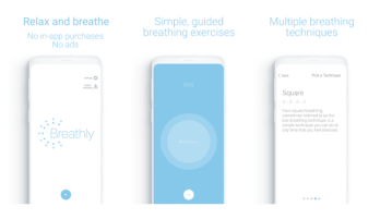 Free Deep Breath Training app for Android and iOS for Relaxation