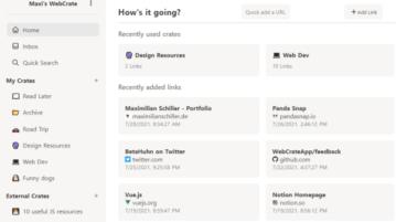 Free Open Source Social Bookmarking Tool WebCrate