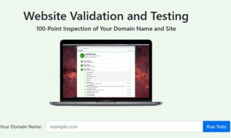 Free Website Validation Tool toTest Domain, Page Speed, Email Delivery