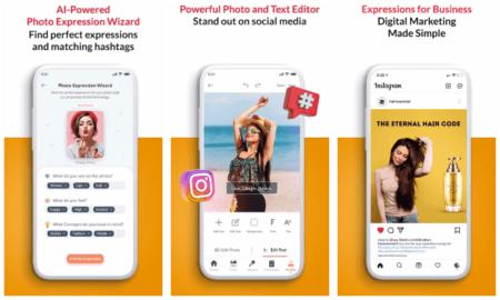 Free app to Generate Captions, Hashtags for Photos using AI Cretorial
