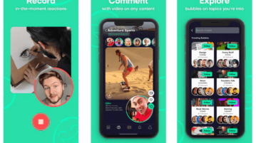 Free iPhone app to Post Video Reactions on Social Media Posts Bubble app