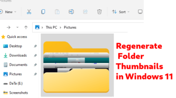 Generate Folder Thumbnails in Windows 11