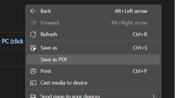 How to Enable Save as PDF right Click Menu in Edge to Save Webpages as PDF in 1 Click