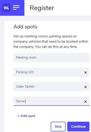 Register Spots