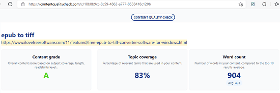SEO Quality Check Report Overview