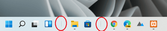 Separators added to the Taskbar