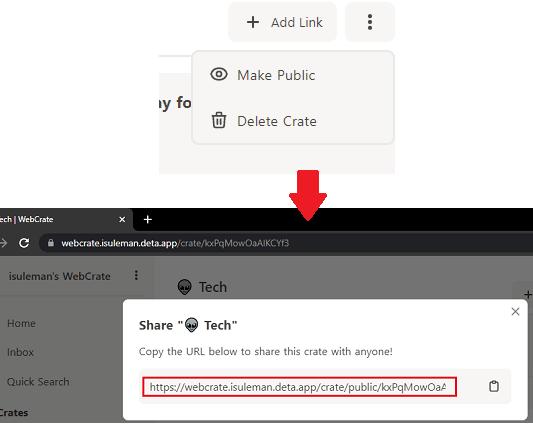 WebCrate Make Public