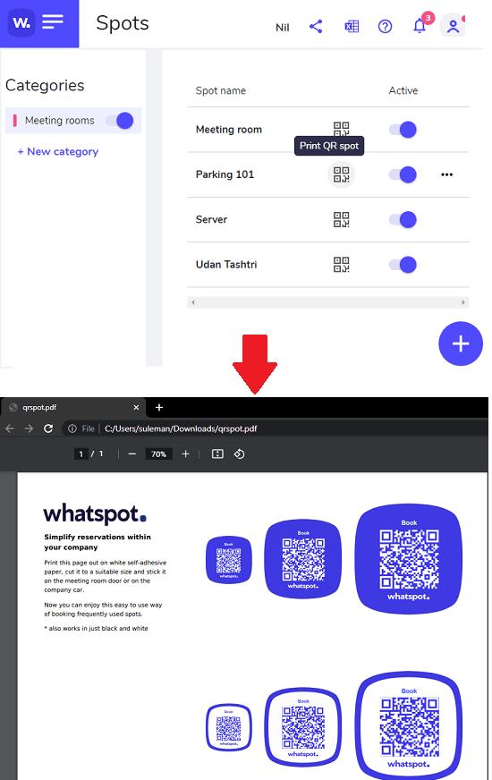 WhatSpot QR Code