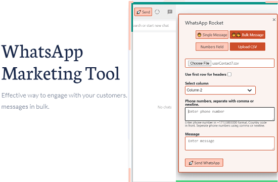 WhatsApp Marketing Tool to Send Bulk Messages from WhatsApp Web