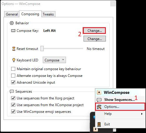 WinCompose Options